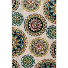patio brights burnette multi 8 ft x 10 ft indoor outdoor area rug