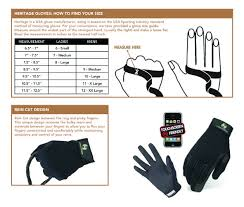 Heritage Gloves Sizing Chart