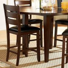 Kitchen Counter Height Tables Homelegance Ameillia 5 Piece Drop Leaf Round Counter Height Table
