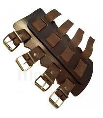 vikings thick leather bracelets