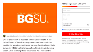Angie grew up in the small community of woodburn and moved to bowling green after marrying her husband chris in. Gaps In The System Students Petition For More Refund Options Bgsu Open To Individual Conversations Coronavirus Bgfalconmedia Com