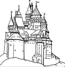 Coloriage De Chateau Fort Coloriage Chateau Princesse Disney