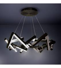 modern forms pd 64834 bk chaos led 34 inch black chandelier ceiling light