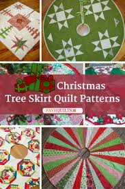 Christmas Tree Skirt Pattern Fascinating 48 Christmas Tree Skirt Quilt Patterns FaveQuilts