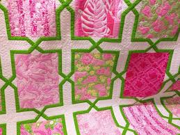 Lilly Pulitzer | HMH Designs & I decided to make a quilt for my bestie for Christmas and the trek to make  that happen started in June (yes, June!) when I found the inspiration  fabric. Adamdwight.com