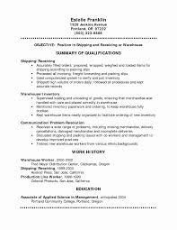 Resume Sample For Warehouse Worker Resume Template Warehouse Worker Unique Resume Template Warehouse 37