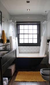 Clawfoot Tub Bathroom Ideas Simple Clawfoot Tub Shower Subway Tile Reclaimed Wood Floors Small