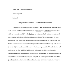 compare and contrast candide and siddhartha international document image preview