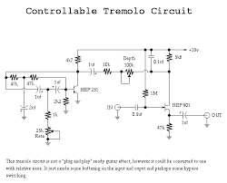 guitar circuits and schematics fuzzi amps and other effects circuit basic modulation uses transistors has rate and depth controls tubedist gif tube distortion uses real tube 12au7a to be exact