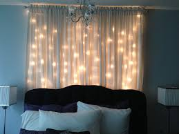 Diy Curtains With Lights Christmas Light Curtain Headboard Headboard With Lights