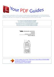 Operating Instructions Standard Horizon Hx600s Manualzz Com