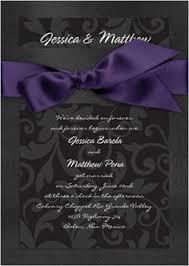 Black And Purple Invitations Purple And Black Wedding Invitations Wedding