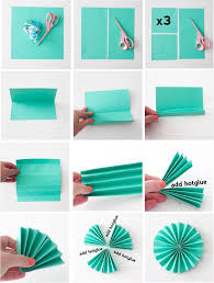 folding paper fans an easy decoration possibility