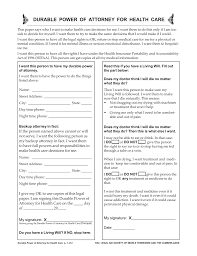 Health Care Power Of Attorney Form Free Tennessee Medical Durable Power Of Attorney Form PDF EForms 16