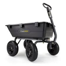 garden cart lowes. Gorilla Carts 6-cu Ft Poly Yard Cart Garden Lowes 0