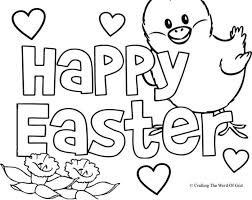 Happy Easter 2 Coloring Page Crafting The Word Of God