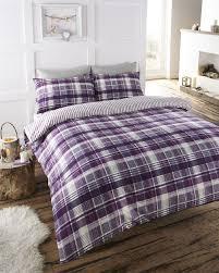 purple checked bedding