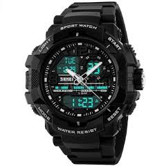 Skmei 1164 LED And Pointer Display <b>50M Waterproof</b> Sports <b>Watch</b> ...