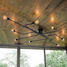 edison bulbs light fixtures industrial bulb wrought iron 8 light large led semi flush ceiling light in black edison bulb light fixtures diy