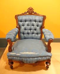 Armchair Upholstery Filearmchair T Brooks Company Brooklyn Ny 1872 Walnut