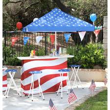 best of times patriotic l shaped 6 piece all weather patio bar set