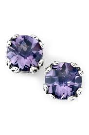 image of samuel b jewelry sterling silver round pink amethyst stud earrings