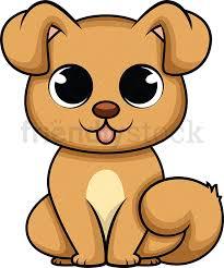 cute baby dog cartoon vector clipart
