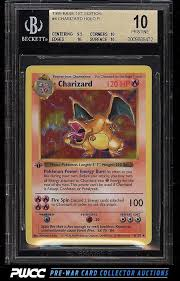 Pokemon Card Value Chart 1999 Pokemon 1st Edition Charizard Holo Bgs 10 Sells For
