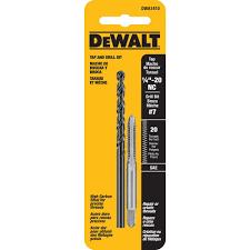 7 drill bit. dewalt #7 drill and 1/4 in. x 20 nc tap set 7 bit home depot