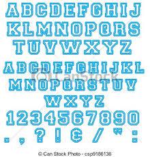 Blue Letters Blue Block Alphabet Letters