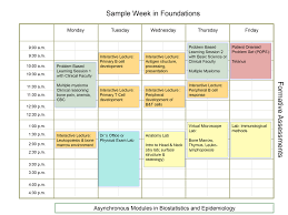 Sample College Class Schedule College Of Medicine Admissions