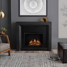 electric fireplace in gray