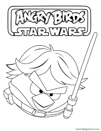 Small Picture Angry Birds Star Wars Luke Skywalker 01 Coloring Page Coloring