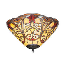Chatelet Art Nouveau Flush Fitting Tiffany Ceiling Light
