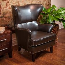 awesome leather wingback chair for your living room design elegant family room with brown leather