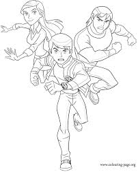 Small Picture Ben 10 Ben 10 Gwen Tennyson and Kevin Ethan Levin coloring page