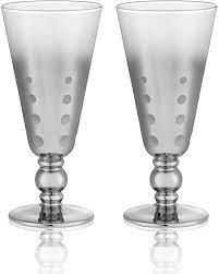 Amazon.com | Artland Roxanne Glass 12 Ounce Goblet, Set of 4: Goblets &  Chalices