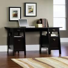 trestle office desk. brilliant desk sauder stockbridge executive trestle desk in jamocha wood throughout office