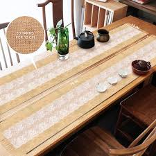burlap jute lace hessian table runner rustic natural jute country wedding party dining