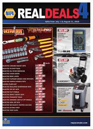 napa auto parts real deals flyer july 1 to august 31