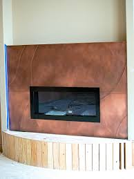 stainless steel fireplace surround