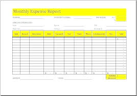 Free Monthly Expenses Template