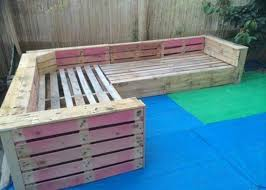 pallet outdoor bench diy. DIY Pallet Patio Or Garden Corner Sofa | 99 Pallets Outdoor Bench Diy