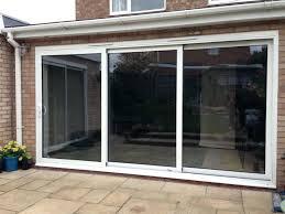 triple sliding glass patio doors splendid 3 panel door double exterior three interior design 6