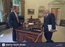 bush oval office. President Bush And Vice Cheney In The Oval Office H