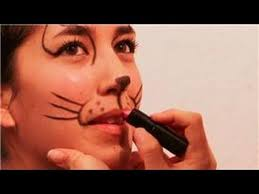 face painting and makeup how to make a cat s nose whiskers with makeup