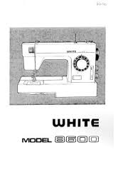 White Sewing Machine Manual