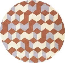 round orange rug cosmopolitan 8 round synthetic hand tufted geometric area rug orange rugs orange rugby round orange rug