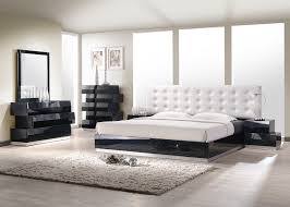 Milan Bedroom Set Black J&M Milan Platform Bedroom Set Black
