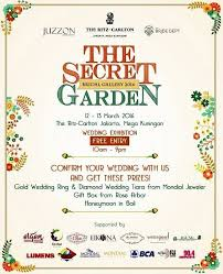 the secret garden the ritz carlton jakarta wedding expo Wedding Fair 2016 Jakarta the secret garden wedding expo 2016 wedding fair april 2016 jakarta